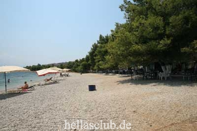 Beach Nireos, Village Aliveri, Island Evia, Greece